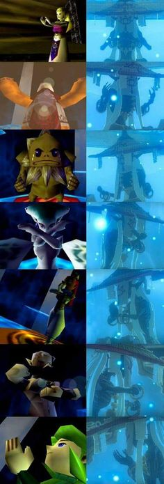 Sages from Ocarina of Time and the monks in similar poses in Breath of the . - Sages from Ocarina of Time and the monks in similar poses in Breath of the Wild – # similar - The Legend Of Zelda, Legend Of Zelda Memes, Legend Of Zelda Breath, Twilight Princess, Breath Of The Wild, Elsword, Image Zelda, Princesa Zelda, The Monks
