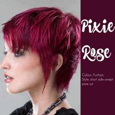 Fuchsia Pixie hairstyle