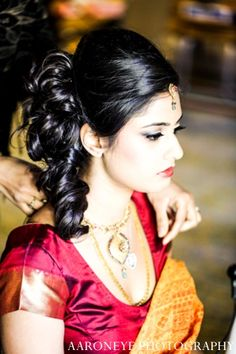 indian wedding bride jewelry hair makeup http://maharaniweddings.com/gallery/photo/4359