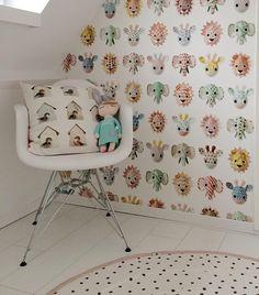 Kidsroom girlsroom wallpaper pink nursery  Behang kinderkamer babykamer roze studio ditte Kidsroom, Wallpaper S, Cute Wallpapers, Baby Room, Wall Decor, Wall Art, Baby Kids, Art Deco, Nursery