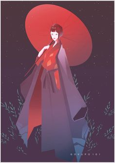 Lady Eboshi ~ by Gokupo 101 from ArtStation