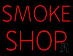 Smoke Shop Neon Sign 24 Tall x 31 Wide x 3 Deep, is 100% Handcrafted with Real Glass Tube Neon Sign. !!! Made in USA !!!  Colors on the sign are Red. Smoke Shop Neon Sign is high impact, eye catching, real glass tube neon sign. This characteristic glow can attract customers like nothing else, virtually burning your identity into the minds of potential and future customers. Smoke Shop Neon Sign can be left on 24 hours a day, seven days a week, 365 days a year...for decades.