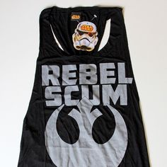 Women's We Love Fine x Star Wars Rebel Scum tank top ⭐️ Star Wars fashion ⭐️ Geek Fashion ⭐️ Star Wars Style ⭐️ Geek Chic ⭐️