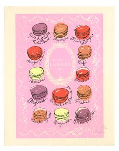 Kitchen art Macaron print French Macaroon poster Food illustration Kitchen decor cake pink Paris from lucileskitchen on Etsy. Saved to Kitchen. Beach Kitchen Decor, Rustic Kitchen Decor, Kitchen Decor Themes, Pink Paris, Kitchen Prints, Kitchen Art, Quirky Kitchen, Gold Kitchen, French Kitchen