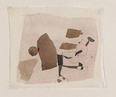 automaticaction:  20 Jan. 59 Zurich (1959) - Julius Bissier (Tempera on Fabric)