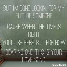 Tori Kelly -Dear No One. Omg one of my new favorite songs.