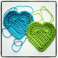 Karin on the hook: Heart on your bag or key ring