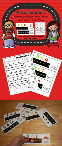 Segmenting and Blending with toy cars!  Playing with cars can be fun and educational.  Check out this packet of short a cvc activities.