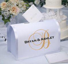 Wedding Mailbox Decal Card Box Decal by CreativeExpressionsz, $24.00