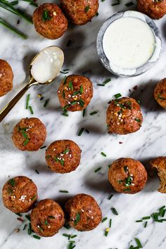 These Paleo, + Keto pork meatballs are a great meal prep recipe that's easy to make, and you can re-heat and enjoy them for any meal of the day! Gluten Free Meatballs, Pork Meatballs, Slow Cooker Pork Ribs, Caviar Recipes, Whole 30 Recipes, Pork Recipes, Pork Dishes, Food Print, Meal Planning