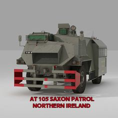 3D Model ALVIS AT 105 SAXON PATROL NORTHERN IRELAND | Military Vehicle 3D Models | mpzugarra - 3D Squirrel