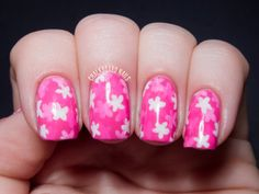 """31DC2013 Day 30: Inspired by a Tutorial (Floral """"Pond Manicure"""") 