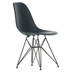 Found it at AllModern - Eames DSR Molded Plastic Side Chair with Wire Base in Black $254. was $300
