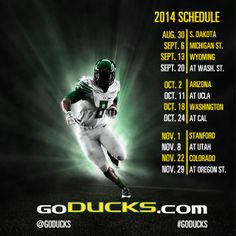 2014 Oregon Football schedule #GoDucks