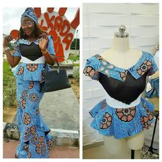 Collection of the most beautiful and stylish ankara peplum tops of 2018 every lady must have. See these latest stylish ankara peplum tops that'll make you stun African Dresses For Women, African Print Dresses, African Print Fashion, African Attire, African Wear, African Fashion Dresses, African Women, African Prints, African Patterns