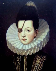 Ana de Mendoza de la Cerda    Was a spanish aristocrat during the XVI century. She was one of the most talented women of her time, and even though she lost an eye during a fencing practice, she was considered one of the most beautiful ladies in the spanish court. Her haughty character and her love for luxury became her best presentation etiquette.