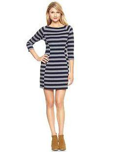 Striped jersey raglan dress from Gap