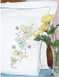 Pillowcases - Embroidery Patterns & Kits - 123Stitch.com