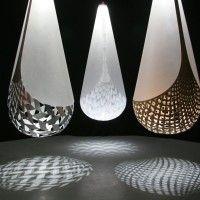 New Zealand designer David Trubridge created these Basket Lights.