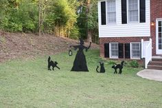 halloween outdoor porch decorations | lawn she created an absolutely adorable and cheap halloween decoration
