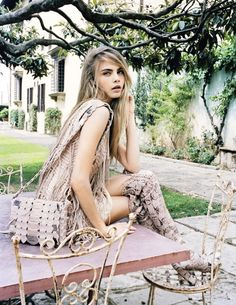 """A La Italiana"" Vogue Spain December 2012  Model: Cara Delevingne  Photographer: Quentin de Briey  Styled by: Marina Gallo"