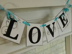 LOVE Wedding Garland Reception Decoration by anyoccasionbanners, $13.00