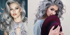 Awesome Silver Wavy Hairstyles!