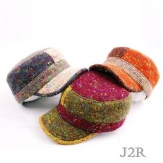 Mens Womens Winter Hats Ladies Warm Knit Hat Unisex Military Caps AdHigh quality multi-color winter hat for men & women  Unisex warm knit cap with military look  Very unique, colorful & stylish  You can choose among three colors  (Multi-Green Mix, Multi-Orange Mix, Multi-Ivory Mix)  2cm (0.8 inch) Size adjustable belt at the back  Made in Koreajustable Cap
