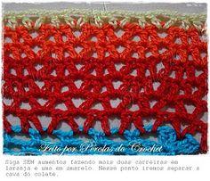 Maxi Colete em crochet com PAP.     Esse mês o Pérolas do Crochet comemora 5 anos.   Mas o presente é todo seu!   Bons Crochets!         ...