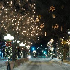 Main St Parker, CO at Christmas, my home town! Parker Colorado, Denver Colorado, Magical Christmas, Christmas Lights, White Christmas, Christmas In America, Denver Skyline, Denver Area, Colorado Winter