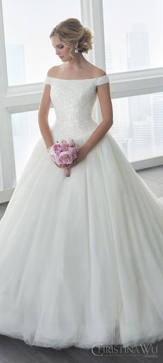christina wu brides spring 2017 bridal off shoulder heavily beaded bodice ball gown wedding dress zfv romantic princess long train -- Christina Wu Spring 2017 Bridal Trends That Will Make You Swoon! Wedding Dress Trends, Long Wedding Dresses, Bridal Dresses, Gown Wedding, Wedding Ceremony, Wedding Frocks, Wedding Ideas, Wedding Gowns 2017, Lace Wedding