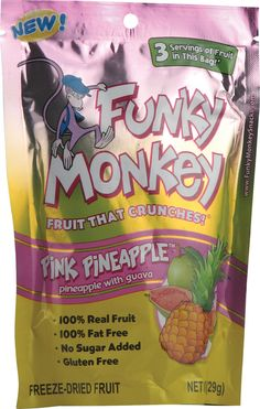 Funky Monkey Freeze-Dried Fruit Pink Pineapple™ -- 1 oz