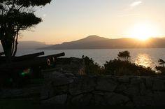 Por do sol no Forte São José da Ponta Grossa - Jurerê - Florianópolis!