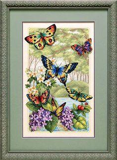 Cross-stitch Wonderous Butterflies, part 1... color charts on parts 8, 9 & 10