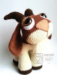 Hopscotch the Goat - Amigurumi pattern on Craftsy.com