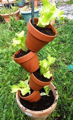 Ce week end, jai réalisé un potager à la verticale , pour mo Aquaponics System, Hydroponics, Balcony Garden, Herb Garden, Garden Pots, Starting A Vegetable Garden, Flower Pots, Flowers, Permaculture