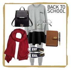 """""""Winter School Under $100"""" by ichaaica ❤ liked on Polyvore featuring T By Alexander Wang, LE3NO, MANGO, donni charm, Converse, Mulberry and Parker"""