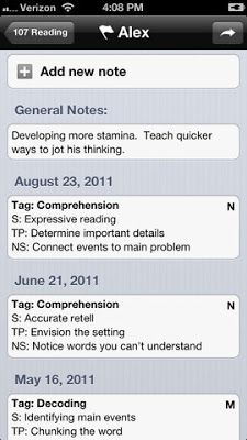 Do you teach guided reading groups or meet in conferences with developing writers? Try using the Confer app to keep track of all of your anecdotal notes and records.