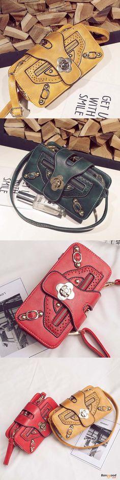 US$28.99 + Free shipping. Women Bag, Retro Purses, Double Zipper Wallet, Phone Bag, Crossbody Bag. Get the look!
