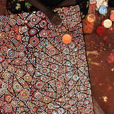 Aboriginal Art. Artwork by Pauline Napangardi Gallagher, Mina Mina Jukurrpa, 122x76cm