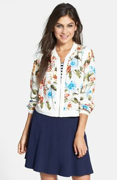 BCNU Print Bomber Jacket available at #Nordstrom