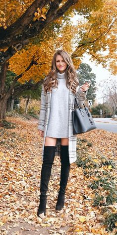 60 Trendy and Flawless Fall & Winter Outfits You'll Love Thi.- 60 Trendy and Flawless Fall & Winter Outfits You'll Love This Year 60 Trendy and Flawless Fall & Winter Outfits You'll Love This Year – Cool Fashion Accessories - Casual Fall Outfits, Fall Winter Outfits, Autumn Winter Fashion, Cute Outfits, Fall Fashion, Crazy Outfits, Black Outfits, Winter Dresses, Winter Wear