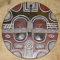 African mask of the Teke (Bateke, M'Teke, Tege) people of the Congo.
