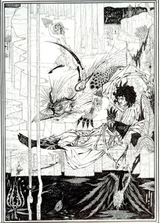 """<FONT color=""""#000000"""">ビアズリー 「How King Arthur Saw the Questing…"""