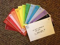 """Vous connaissez les Open When Letters ? Découvrez 101 idées de Lettres à """"ouvrir quand"""" pour réussir votre cadeau ! Cliquez ici pour lire l'article."""