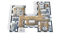 Klassiska enplanshuset Villa Höganäs har funktionell och fin planlösning, där rummen omsluter innergården. Bra uppdelning med stort kök i centrum och vardagsrum och allrum på vardera sida. Stor rymd tack vare ryggåstaken som kan väljas i vardagsrum och kök. Se fler fakta, bilder och ritningar här!