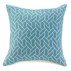 """Blue And White Knots Throw Pillow 17"""" x 17"""""""