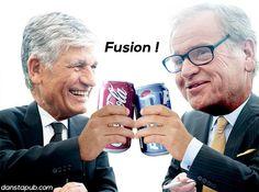 Après la fusion de Publicis et Omnicom, Coca-Cola et Pepsi décident de fusionner.