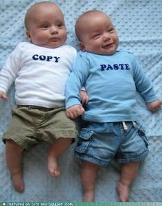Too cute! What a great idea for twins!