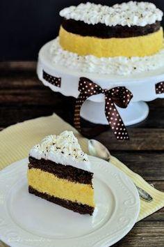 Tort cu cremă de mango Cacao Beans, Mango, Food Cakes, Something Sweet, Cheesecakes, Vanilla Cake, Cake Recipes, Ice Cream, Vegan